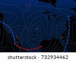 weather map of the united... | Shutterstock .eps vector #732934462
