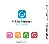 creative abstract logo design... | Shutterstock .eps vector #732939775