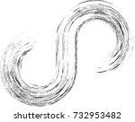 black painted brush stroke .... | Shutterstock .eps vector #732953482