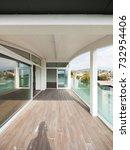 luxury apartment balcony ... | Shutterstock . vector #732954406