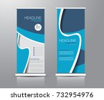 roll up banner stand template.... | Shutterstock .eps vector #732954976