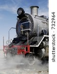 Front View Of Steam Train At...