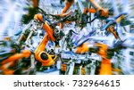 dynamic car manufacturing... | Shutterstock . vector #732964615