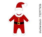 romper suit. christmas costume...   Shutterstock . vector #732977656