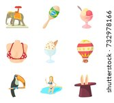 magnificent performance icons... | Shutterstock .eps vector #732978166