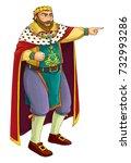 cartoon character   king  ... | Shutterstock . vector #732993286