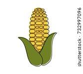 corn knob vegetable icon image  | Shutterstock .eps vector #732997096
