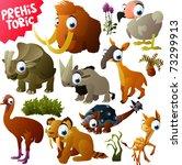 vector prehistoric animals | Shutterstock .eps vector #73299913