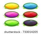 cartoon glossy colorful oval...