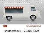 retro food truck vector mock up ... | Shutterstock .eps vector #733017325