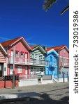 costa nova  portugal   june 10  ... | Shutterstock . vector #733019386