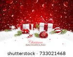 christmas gift with balls | Shutterstock .eps vector #733021468