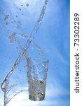 fresh water. water splash at... | Shutterstock . vector #73302289