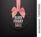 black friday round banner with... | Shutterstock .eps vector #733023682