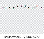 christmas lights  on... | Shutterstock .eps vector #733027672