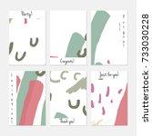 hand drawn creative universal... | Shutterstock .eps vector #733030228
