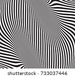 optical illusion  abstract... | Shutterstock .eps vector #733037446