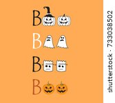 halloween message boo  design... | Shutterstock .eps vector #733038502