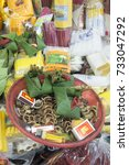 Small photo of Betel Nut and Areca Nut at the Warorot Market in the city of Chiang Mai in North Thailand in Thailand in southeastasia, thailand, chiang mai, november 2015.