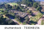 aerial bird's eye view photo... | Shutterstock . vector #733048156