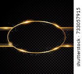 vector oval round frame.... | Shutterstock .eps vector #733057915