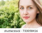 young  attractive woman in the... | Shutterstock . vector #733058416