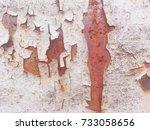 iron rust  steel rust  steel... | Shutterstock . vector #733058656