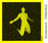 man who prays. 3d human body... | Shutterstock .eps vector #733062622