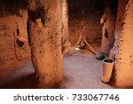 kasbah   old houses  morocco   Shutterstock . vector #733067746