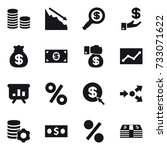 16 Vector Icon Set   Coin Stac...