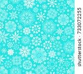 seamless snowflake pattern | Shutterstock .eps vector #733072255