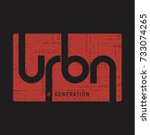urban generation . t shirt and... | Shutterstock .eps vector #733074265