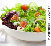 salad with juicy cherry... | Shutterstock . vector #73307464