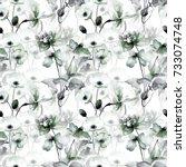 seamless pattern with original... | Shutterstock . vector #733074748