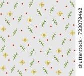 christmas pattern | Shutterstock .eps vector #733078462