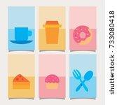 food card | Shutterstock .eps vector #733080418