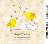 easter greeting card with... | Shutterstock .eps vector #73308610