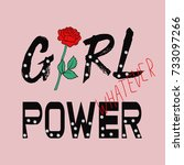 girl power fashion print with... | Shutterstock .eps vector #733097266