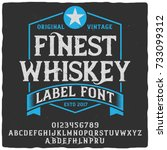 vintage label typeface named ... | Shutterstock .eps vector #733099312