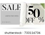 sale advertisement banner on... | Shutterstock .eps vector #733116736