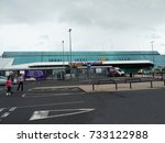 view of terminal building at...   Shutterstock . vector #733122988