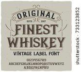 vintage label typeface named ...   Shutterstock .eps vector #733123852