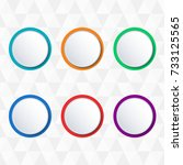 button or badge set. | Shutterstock . vector #733125565