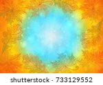 illustration of frame from... | Shutterstock .eps vector #733129552