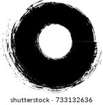 circle retro shape. black stamp.... | Shutterstock .eps vector #733132636