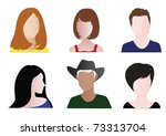 colorful mugshots | Shutterstock .eps vector #73313704