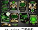 vector set  the labels framed...   Shutterstock .eps vector #73314436