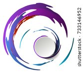vector art. creative... | Shutterstock .eps vector #733146952