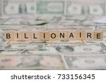 "the word ""billionaire"" written..."