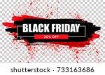 black friday sale. black web...   Shutterstock .eps vector #733163686